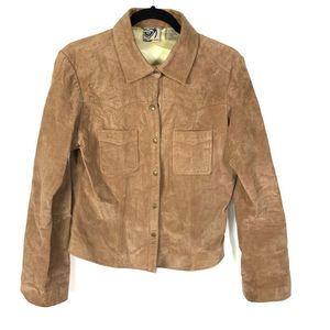 Vintage Roxy Genuine Leather Suede Jacket Brown XL